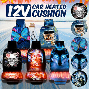 Universal 12v Car Heated Seat Cushion Hot Cover Heating Heater Pad With Remote