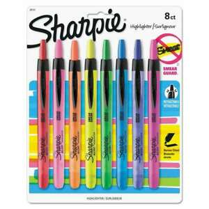 Sharpie Accent Retractable Highlighters Chisel Tip Assorted Co 071641281011