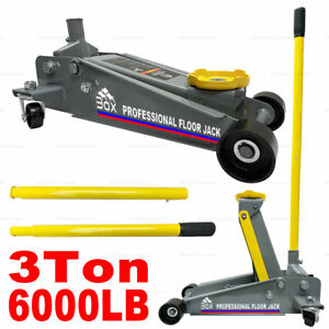 3 Ton 6000lb Floor Jack Steel Low Profile Quick Pump Lifting Car Garage Usa