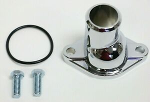 Sbc Bbc Chevy Chrome Water Neck Thermostat Housing Straight Up 265 283 327