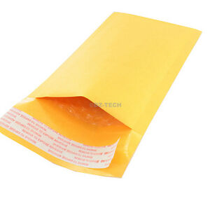Lot Of 100 New 000 4x8 Inch 4 25x 7 Kraft Bubble Mailers Padded Envelopes Bags