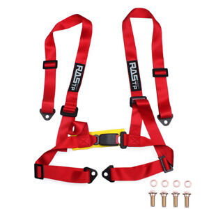 Adjustable 2 Inch 4 Point Racing Car Harness Seat Belt Safety Strap For Jdm Us