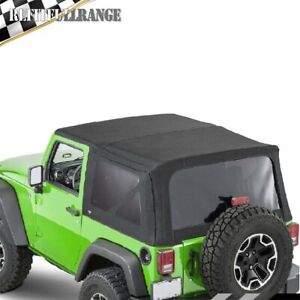 Replacement Soft Top Tinted Rear Windows For 2007 2009 Jeep Wrangler 2 Door