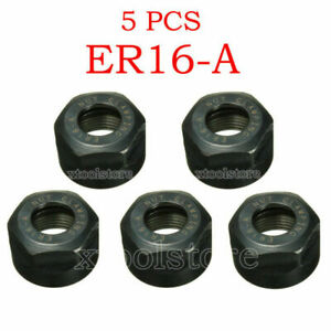 5pcs Er16 A Type Collet Clamping Nut For Cnc Milling Collet Chuck Holder Lathe F