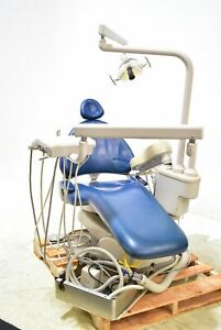Adec 1040 Dental Exam Chair Operatory Set up Package Caregiving Furniture Blue