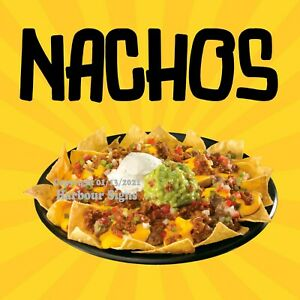Nachos Decal Choose Your Size Concession Food Truck Sign Sticker