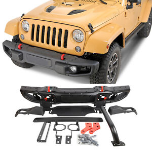 New Front Bumper For 07 18 Jeep Metal Jk Wrangler Rubicon10th Anniversary Style