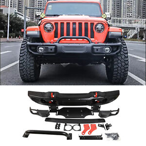 New Front Bumper For Jeep Wrangler Jl 2018 2020 Series 10th Anniversary Style