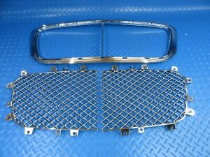 Bentley Continental Gtc Gt Flying Spur Grille Inserts Chrome Trim 9196