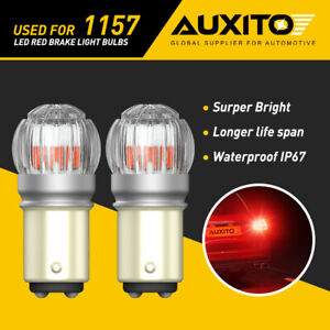 2x Auxito 1157 Led Red Bright Brake Tail Stop Light Parking Bulbs 7528 2357 2057