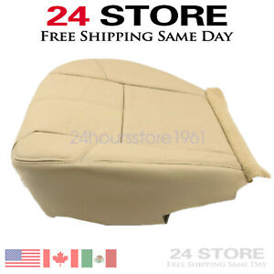 Driver Bottom Leather Seat Cover For 2007 2014 Chevy Silverado Tan Cashmere Us