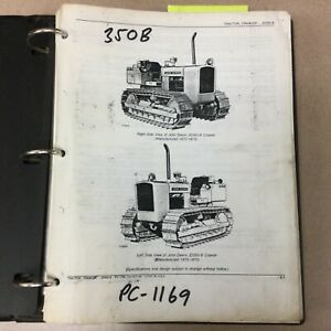 John Deere 350b Parts Manual Catalog Book List Crawler Bulldozer Tractor Pc 1169