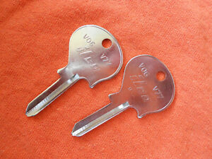 2 Volvo Ignition Key Blanks 1965 1966 1967