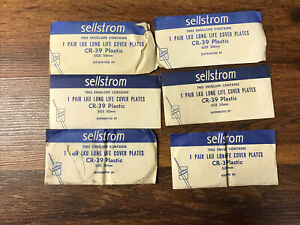 6 Pairs Of Vintage Old new Stock Sellstrom Long Life Clear Welding Goggle Lenses