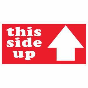 Tape Logic Labels this Side Up Arrow 2 X 4 Red white 500 roll