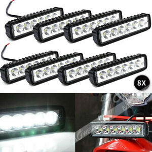 8x 6led 800lm Bright Light Spot Work Bar Driving Fog Offroad Car Lamp For Truck