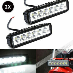 2x 6led 800lm Bright Light Spot Work Bar Driving Fog Offroad Car Lamp For Truck
