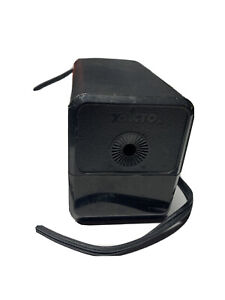 X acto Electric Pencil Sharpener Black Vintage Works