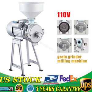 Wet Dry Electric Grinder Mill Corn Grain 2200w 110v Wheat Feed flour Cereals