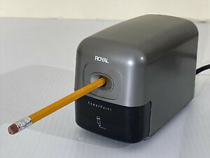 Royal Electric Pencil Sharpener Power Point P20 Grey Silver Home Office School