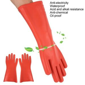 Work Safety Rubber Insulated Gloves Electrical High voltage Gloves Waterproof Us