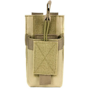 Tactical Tan MOLLE Pouch Fits PUXING PX777 Wouxon Baofeng UV5R UV5RA HT Radios $16.99