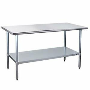 Stainless Steel Prep Table Nsf Commercial Work Table 30 x60 No Backsplash