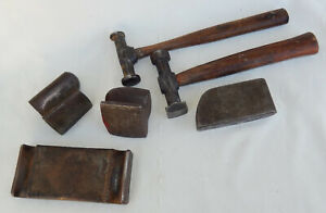 Vintage Lot Of Body Fender Tools Hammers Dolly s