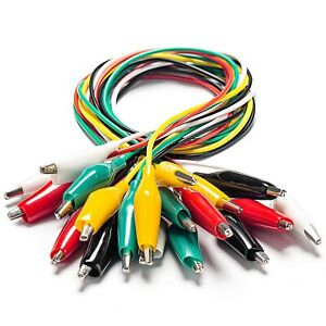 Kaiweets 10 30 50 100pcs Electrical Alligator Clips With Wires Test Leads Sets