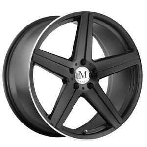 4 Mandrus Estrella 18x8 5 5x112 25mm Matte Black Wheels Rims