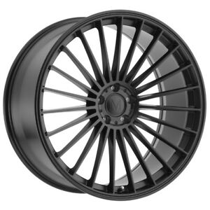 Staggered Mandrus 23 Front 18x8 5 Rear 18x9 5 5x112 Matte Black Wheels Rims