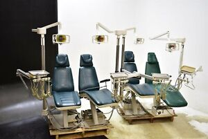 Lot Of 4 Royal Eagle Dental Exam Chair Operatory Set up Package Caregiving