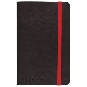 Black N Red 3 X 5 Casebound Soft Cover Journal Notebook Small 71 Sheet