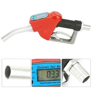 1 Inch Electronic Fuel Meter Nozzle Dispensing Oil Delivery Gun With Battery Usa