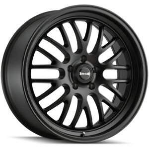 Staggered Ridler 607 Front 18x8 Rear 18x9 5 5x5 0mm Matte Black Wheels Rims