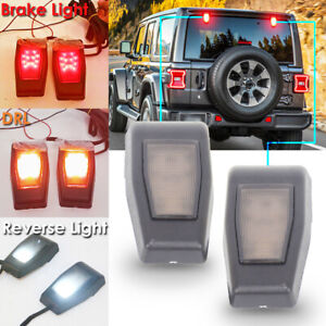 2x Tailgate Led Lights Smoke Rear Brake Light For Jeep Wrangler Jk 2007 2017 Ct