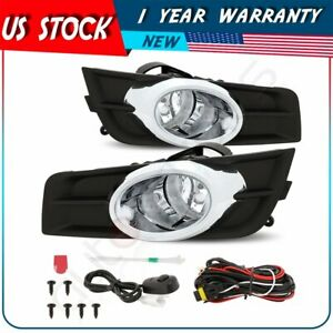 For 2011 2014 Chevrolet Cruze Clear Front Bumper Fog Lights Lamps W switch