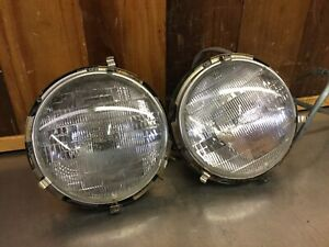 Alfa Romeo Spider 1966 94 Headlight Buckets Assemblies Carello Ar3167
