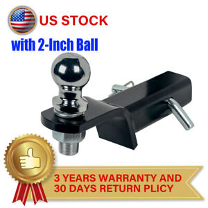 2 Drop Hitch For 2 Receiver Trailer Ball Mount With 2 Hitch Ball Set 6000lbs