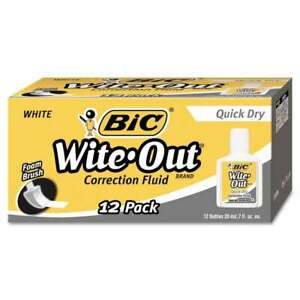 Bic Wite out Quick Dry Correction Fluid 20 Ml Bottle White 1 070330506053