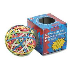 Acco Rubber Band Ball Approximately 250 Rubber Bands Assorted 050505721559