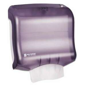 San Jamar Ultrafold Towel Dispenser 11 1 2w X 6d X 11 1 2h Bla 759376108253