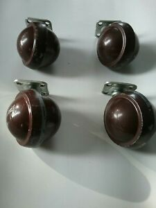 Lot Of 4 Vintage 2 Inch Shepherd Ball Swivel Casters Wheels For Furniture