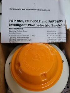 Notifier Fsp 851 Photoelectric Smoke Detector new In Box