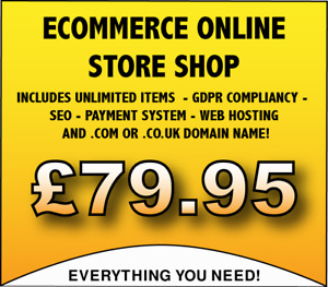 Ecommerce Store Website Design Service unlimited Items W Hosting Domain Name