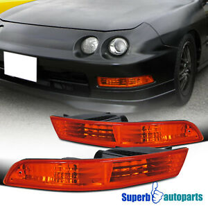 For 1994 1997 Acura Integra Front Bumper Lights Parking Signal Lamp