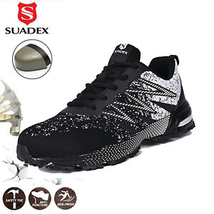 Suadex Men Steel Toe Safety Shoes Breathable Work Construction Sneakers Walking