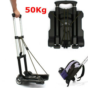 Portable Cart Folding Dolly Push Truck Hand Collapsible Trolley Luggage