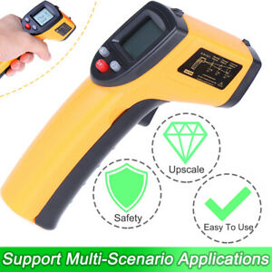 Hot Non Contact Lcd Digital Infrared Thermometer Temperature Ir Gun Industrial
