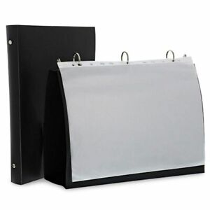 2 pack Black Presentation Folder Binder With 10 Sheet Protectors For 8 5 X 11